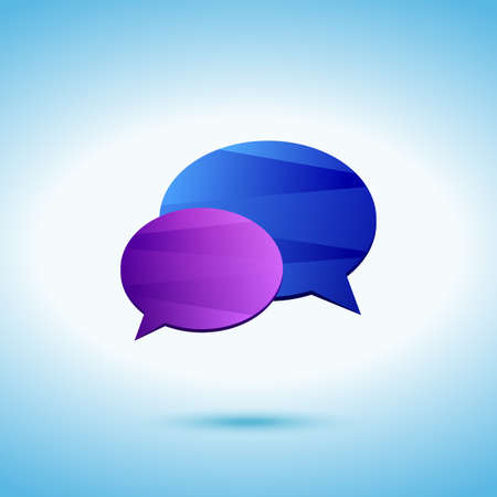 argumentation: Conversation colored icon on the blue background