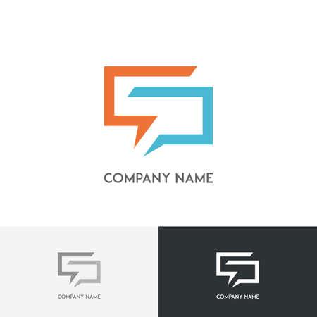 logotipo de la conversación - símbolos de chat de color sobre el fondo blanco