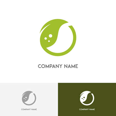 agro: Nature logo - fresh green leaf on the white background
