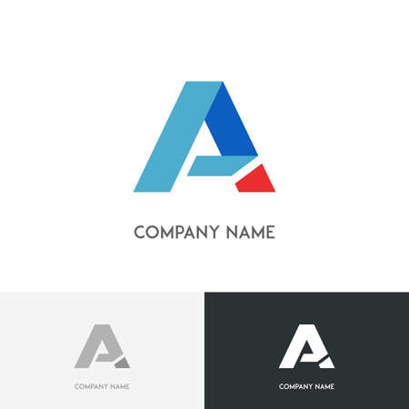 main: Letter A logo - first character of the alphabet on the white background Illustration