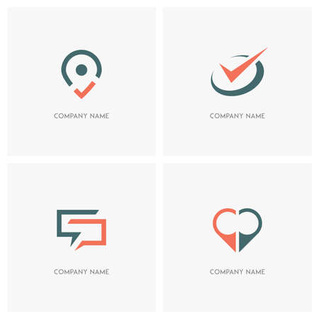 Business And Contacts Vector Logo Address Pointer With Check Mark Circle Tick
