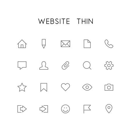 mail man: Website thin icon set - home, pencil, document, phone, chat, mail, man, search, gear, star, bookmark, heart, eye, photo and others simple vector symbols. Internet and social network signs.