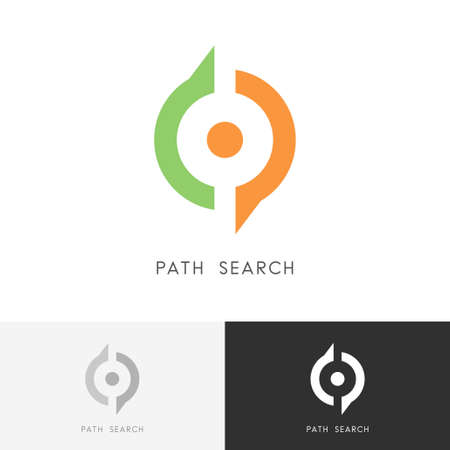 Path Search Pointer And Magnifier Symbol Location And Direction