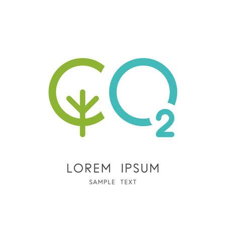 Carbon dioxide symbol Illustration