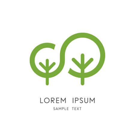 Tree family plant and sapling symbol