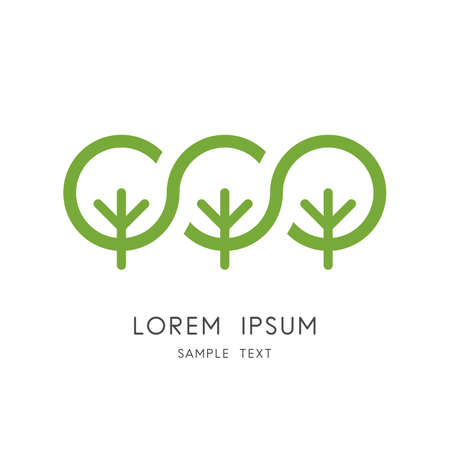 Green forest symbol