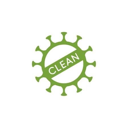 Coronavirus clean mark