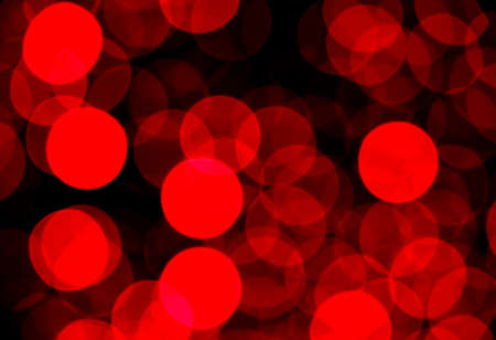 Abstract blurry red light ornament, lots of dots glowing in the nigh, Christmas background