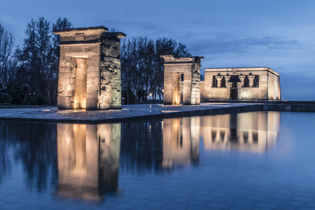 quenching: Debod Temple (Temple of Debod) Stock Photo