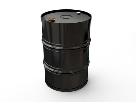 black metal barrel on a white background photo