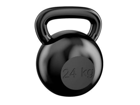 black kettlebell isolated on white background Stock Photo - 35287561