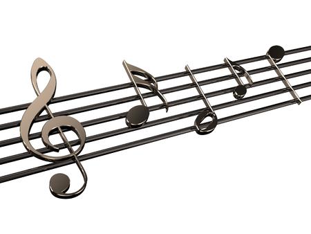 partition musique: notes de musique isol� sur fond blanc