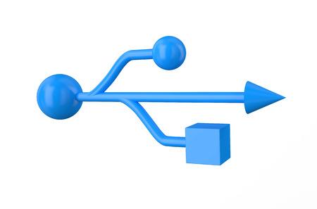 sig: blue usb sig  isolated on white background Stock Photo
