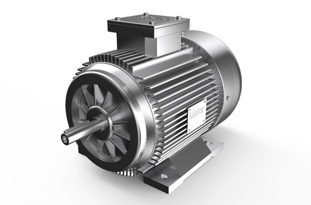 Industrial electric motor  isolated on white background Archivio Fotografico