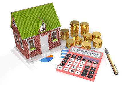 Immobilien-Konzept isoliert auf weißem Hintergrund Standard-Bild - 36597327