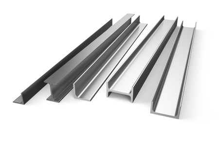 balk: rolled metal stock isolated on white background