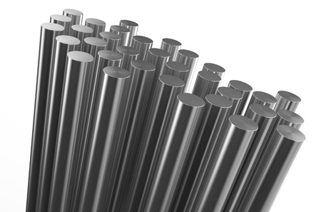 balk: rolled metal, rods isolated on white background