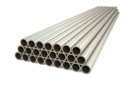 balk: rolled metal, tube isolated on white background