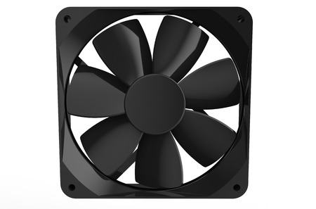 airflow: computer cooler  isolated on white background Stock Photo