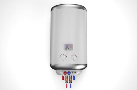 Elektrische boiler, boiler geïsoleerd op een witte achtergrond Stockfoto - 36597746