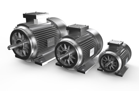 Industrial electric motors  isolated on white background Фото со стока - 36597843