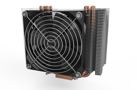 psu: computer cooler  isolated on white background Stock Photo