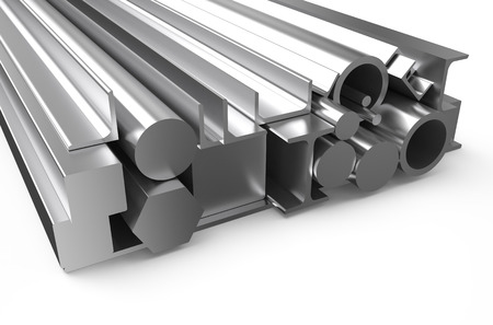 rolled metal stock isolated on white background photo