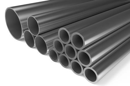 rolled: rolled metal,pipes isolated on white background
