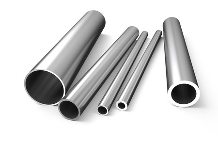 rolled metal, tube isolated on white background