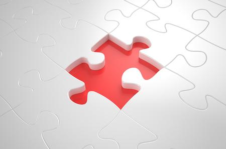 succes concept, white puzzlebackground