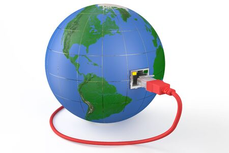 dissemination: global network connection concept isolated on white background
