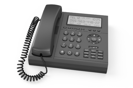ip: black IP Telephone  isolated on white background Stock Photo