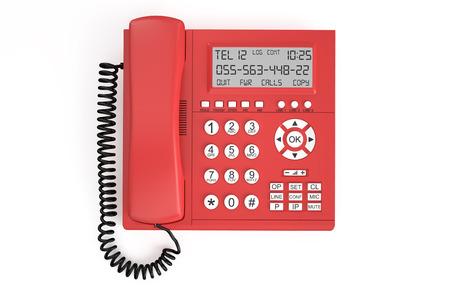 ip: IP Telephone  isolated on white background Stock Photo