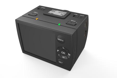 Dashboard camera – DVR isolated on white background photo