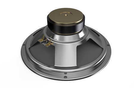 sound speaker: Sound speaker back side isolated on white background