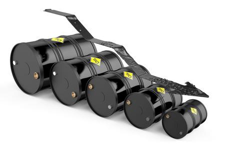 Olieprijs val concept geïsoleerd op een witte achtergrond Stockfoto - 38005400