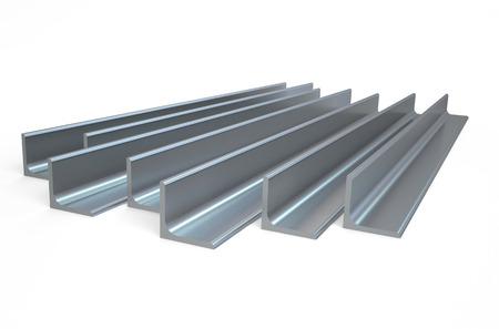Walzwerk-L-Bar, Winkel isoliert auf weißem Hintergrund Standard-Bild - 38402981