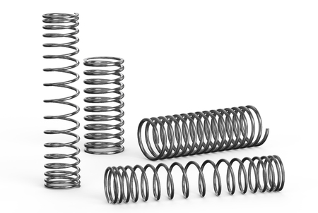 helical: Helical coil springs isolated on white background