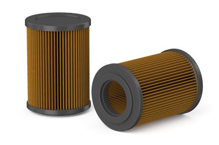air cleaner: filtro de aire para coche aislado en el fondo blanco