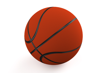 professional basketball league: Orange basketball ball isolated on white background