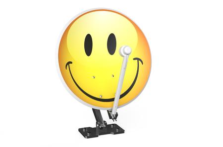 radio unit: Satellite dish with smile isolated on white background