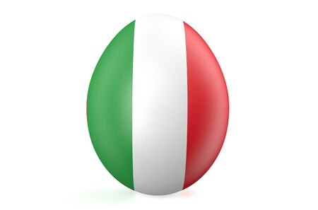 Easter egg with the flag of the Italy isolated on white background photo