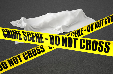 crime scene concept Stock Photo