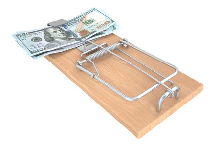 Money Trap isolated on white background photo