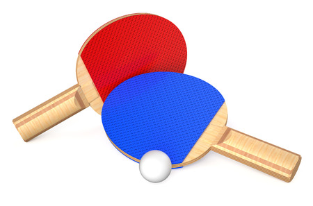 tabletennis: Table tennis equipment isolated on white background Stock Photo