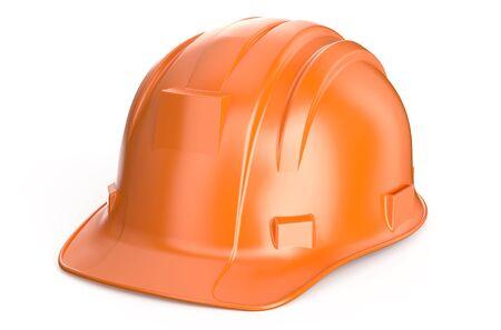 건설 하드 모자 흰색 배경에 고립