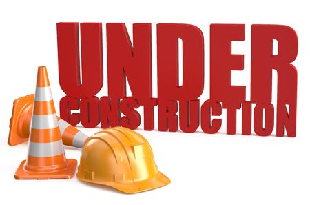 Under construction concept isolated on white background photo