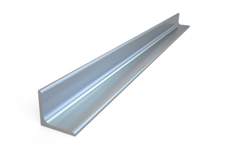 metaal L-bar, hoek staal op een witte achtergrond