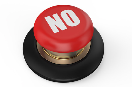no red button isolated on white background photo