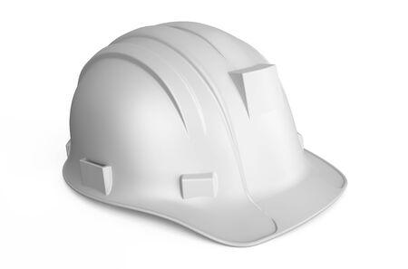 hard hat: white Hard Hat isolated on white background